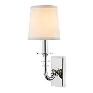 Carroll Polished Nickel One-Light Wall Sconce