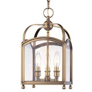 Millbrook Aged Brass Three-Light Mini Pendant