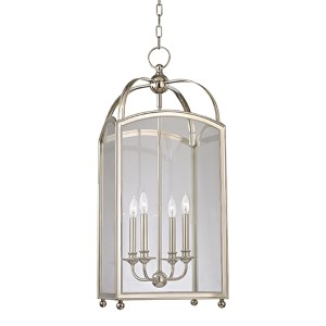 Millbrook Polished Nickel Four-Light Pendant with Clear Glass