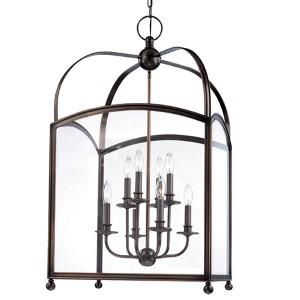 Millbrook Aged Brass Eight-Light Pendant