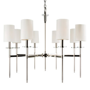 Amherst Polished Nickel Eight-Light Chandelier