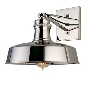 Hudson Falls Polished Nickel One-Light Sconce