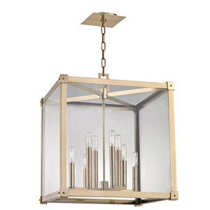 Forsyth Aged Brass Eight-Light Pendant