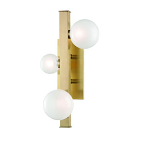 Mini Hinsdale Aged Brass LED Wall Sconce