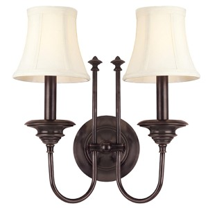 Yorktown Old Bronze Two-Light Wall Sconce