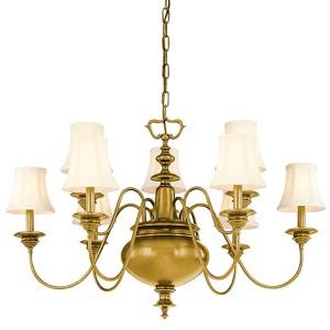 Yorktown Aged Brass Nine-Light Chandelier