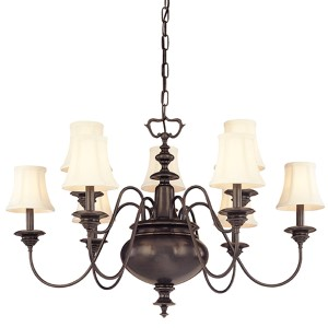 Yorktown Old Bronze Nine-Light Chandelier