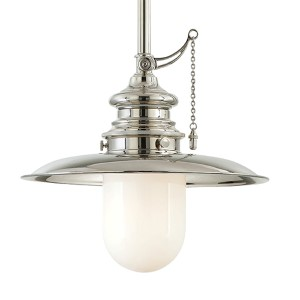 Kendall Polished Nickel 15-Inch One-Light Pendant
