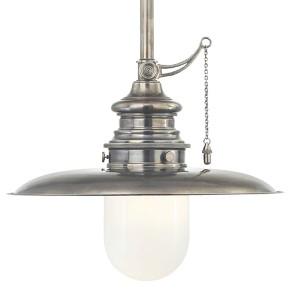 Kendall Historic Nickel 20-Inch One-Light Pendant