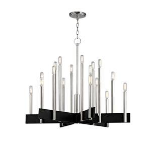 Abrams Polished Nickel 18-Light Chandelier