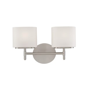 Trinity Polished Chrome Two-Light Bath Fixture