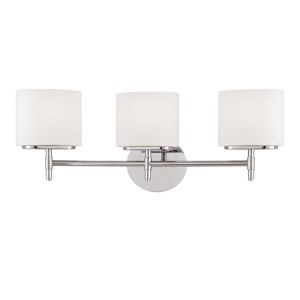 Trinity Polished Chrome Three-Light Bath Fixture