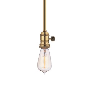 Heirloom Aged Brass One-Light Rod Mini Pendant