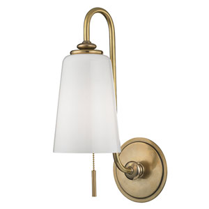 Glover Aged Brass One-Light Wall Sconce