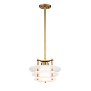 Gatsby Aged Brass 12-Inch LED Pendant