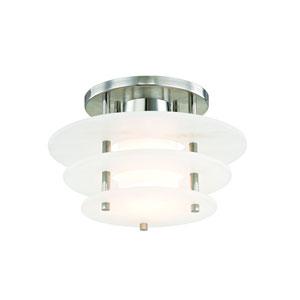 Gatsby Polished Nickel 12-Inch LED Semi Flush Mount