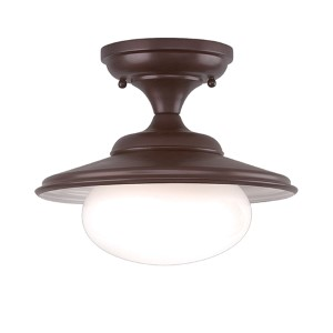 Independence Old Bronze 11-Inch One-Light Semi Flush