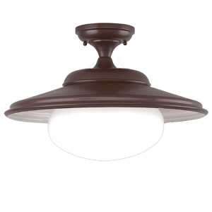 Independence Old Bronze 16-Inch One-Light Semi Flush