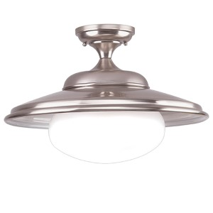 Independence Satin Nickel One-Light Semi Flush