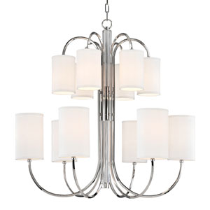 Junius Polished Nickel Twelve-Light Chandelier