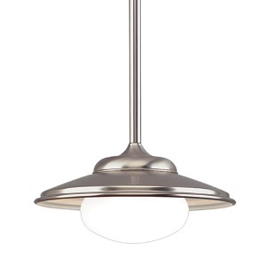 Independence Satin Nickel Dome Pendant