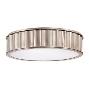 Middlebury Historic Nickel Three-Light Flush Mount