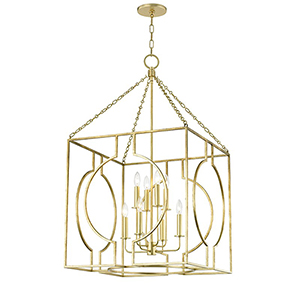 Octavio Gold Leaf 8-Light 24-Inch Pendant