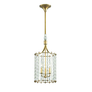 Whitestone Aged Brass Three-Light Pendant
