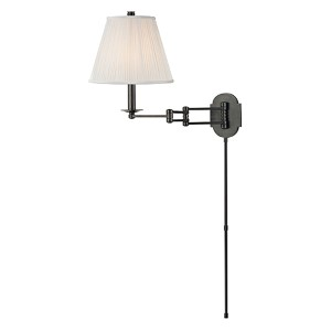Ravena Old Bronze One-Light Three Arm Swing Wall Sconce with White Shade
