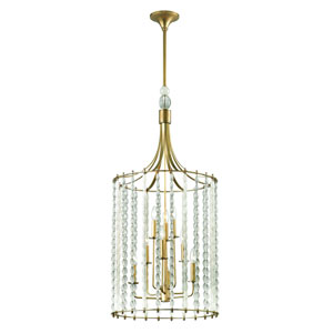 Whitestone Aged Brass Nine-Light Pendant