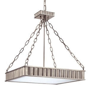 Middlebury Aged Brass Five-Light Pendant