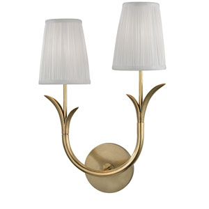 Deering Aged Brass Two-Light Left Wall Sconce