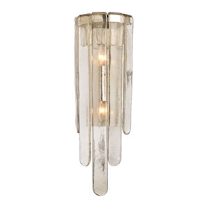 Fenwater Polished Nickel Two-Light Wall Sconce