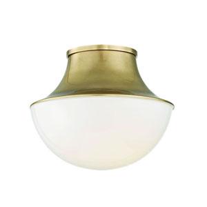 Lettie Aged Brass 11-Inch LED Flush Mount