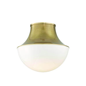Lettie Aged Brass 15-Inch LED Flush Mount