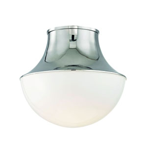 Lettie Polished 15-Inch Nickel LED Flush Mount