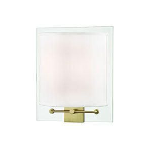 Peoria Aged Brass Two-Light Wall Sconce