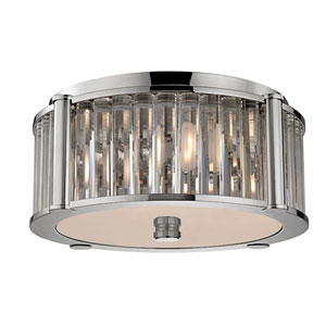 Hartland Polished Nickel Three-Light Flushmount
