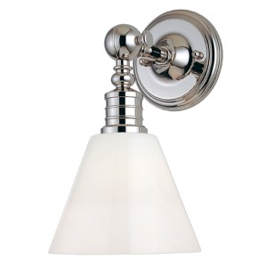 Darien Polished Nickel One-Light Sconce