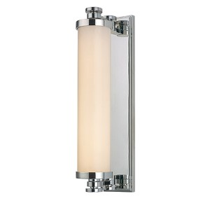Sheridan Polished Chrome LED Eight-Light Bath Light Fixture with Opal Glass