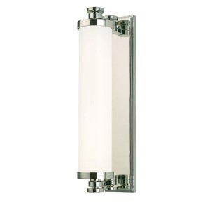 Sheridan Polished Nickel LED Eight-Light Bath Light Fixture with Opal Glass