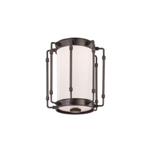 Hyde Park Old Bronze LED 8-Inch One-Light Flush Mount