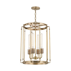 Hyde Park Aged Brass 16-Inch Four-Light Pendant