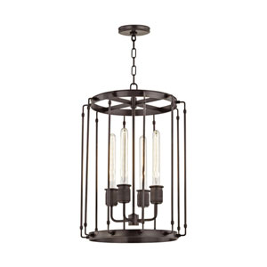 Hyde Park Old Bronze 16-Inch Four-Light Pendant