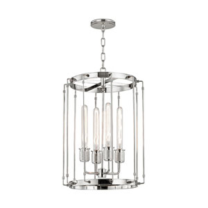Hyde Park Polished Nickel 16-Inch Four-Light Pendant