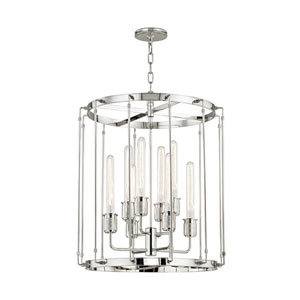 Hyde Park Polished Nickel 22-Inch Eight-Light Pendant