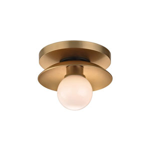 Julien Aged Brass LED 5-Inch One-Light Bath Sconce