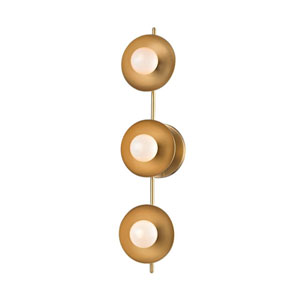 Julien Aged Brass LED 20-Inch Three-Light Bath Sconce