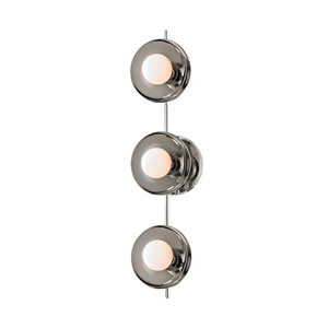 Julien Polished Nickel LED 20-Inch Three-Light Bath Sconce