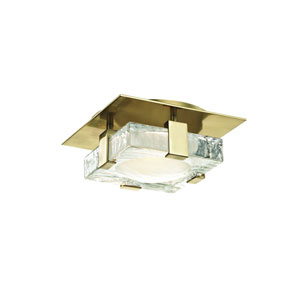 Bourne Aged Brass Eight-Inch LED Flush Mount